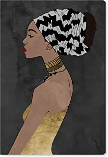 The Oliver Gal Artist Co. Fashion and Glam Wall Art Canvas Prints 'Queen of Grace Grey' Home Décor, 30