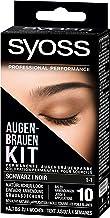 SYOSS Augenbrauen-Kit permanente Augenbrauenfarbe 1-1 Schwarz, natürlicher Look, 1er..