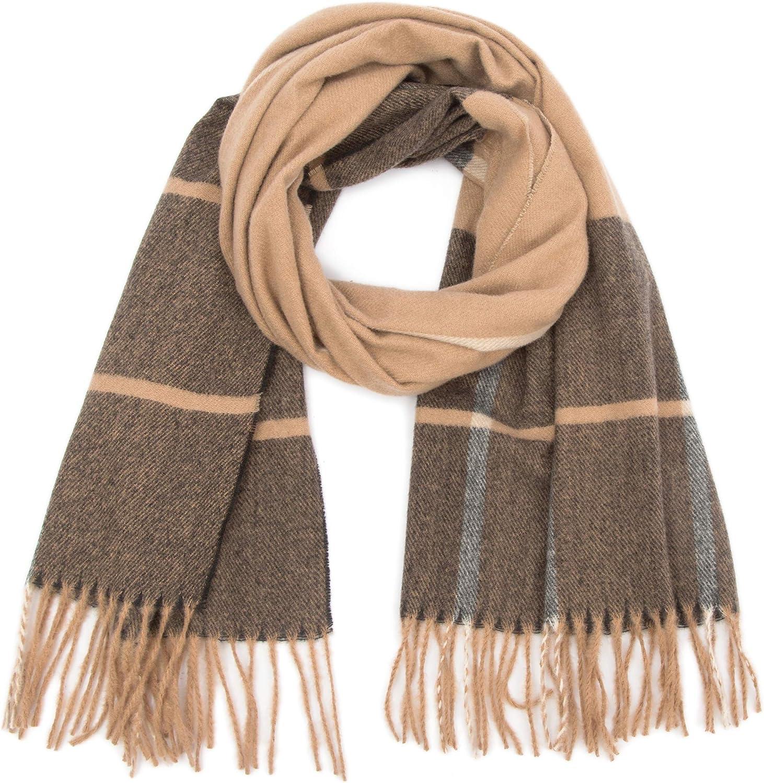 JINGJING & FAN Fall/Winter Scarf Thick Long Plaid Tartan Tassels Scarves for Men/Women