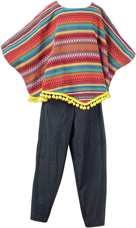 Elbenwald Mexikaner Kostüm Kinder 2-TLG. Poncho und Hose für Jungen zum Karneval B01GOZDQKA  Meistverkaufte weltweit  | Zuverlässige Qualität