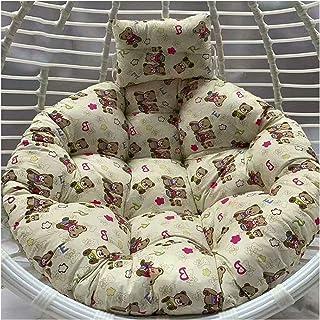 Cesta para colgar Cojines para sillas con forma de huevo Cojines de mimbre para colgar en forma de huevo Cojines para sillas con forma de huevo, antideslizantes, suave, cojín para silla oscilante sin
