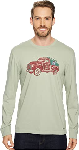 Life is Good - Holiday Truck Long Sleeve Crusher Tee