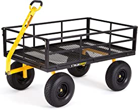 Gorilla Carts GOR1400-COM Heavy-Duty Steel Utility Cart with Removable Sides and 15