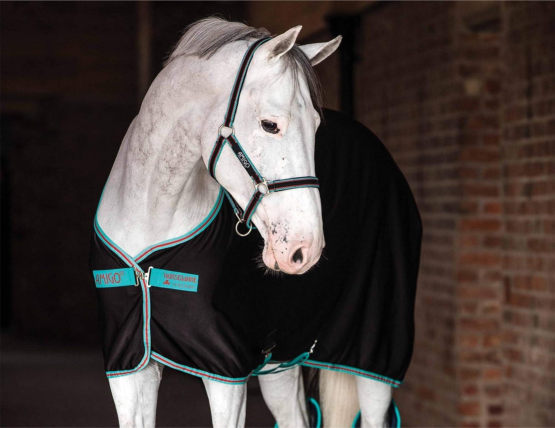 Amigo Horseware Jersey Horse Cooler Rug  Black Teal Dark Cherry  5ft6