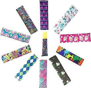 10 Packs Neoprene Ice Pop Sleeve Holder for Kids Summary Popsicle Party