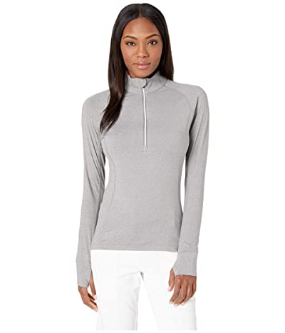 PUMA Golf Rotation 1/4 Zip (Medium Gray Heather) Women