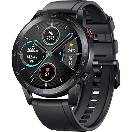 HONOR Magic Watch 2 (46mm, Charcoal Black) 14-Days Battery, SpO2, BT Calling & Music Playback, 100 Workout Modes, AMOLED Touch Screen, Personalized Watch Faces, Sleep & HR Monitor, Smart Companion