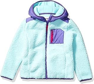 Amazon Brand - Spotted Zebra Girl's Toddler & Kids Hooded Sherpa Fleece Jacket