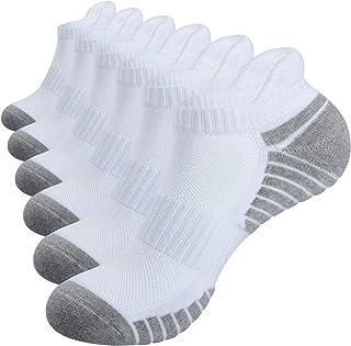 Alaplus Sports Socks Cushioned Running Socks 6 Pairs Trainer Socks for Men Women Cotton Ankle Socks Low Cut Athletic Walki...