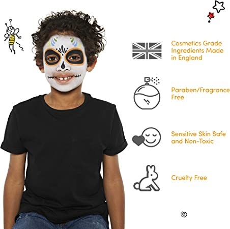 Snazaroo Classic Face and Body Paint, 18.8g, Black