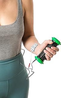 axion Electrodo Mano para VITALCONTROL - Rulo de Silicona + 4 Electrodos Adhesivos - para electroestimuladores conexión de botón 3,5mm - Almohadillas Calidad