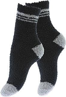 Vincent Creation®, Pack de 4 pares de calcetines para dormir suaves en varios color con y sin rayas