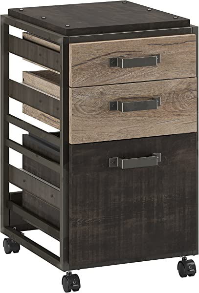 Bush Furniture RFF116RG 03 3 Drawer Mobile Pedestal