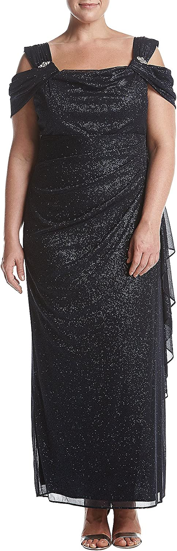 R&M Richards Womens Missy 1 PCE Cowl Neck Long Dress Formal Dress