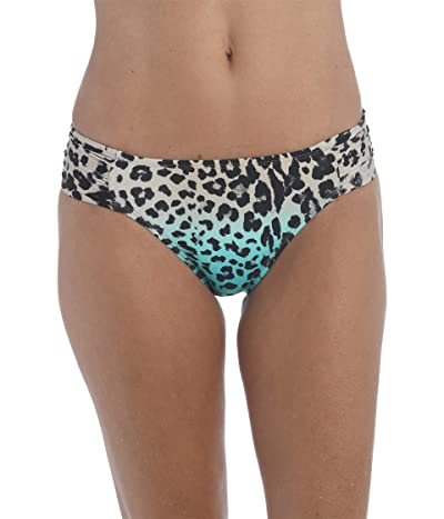 La Blanca Dip Into The Wild Side Shirred Hipster (Aquamarine) Women