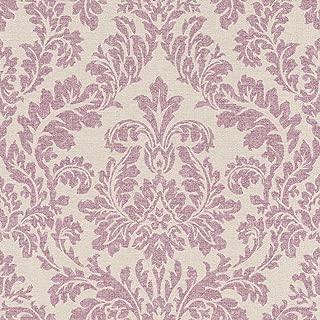 449044 - Florentine Damask Beige & Purple Galerie Wallpaper
