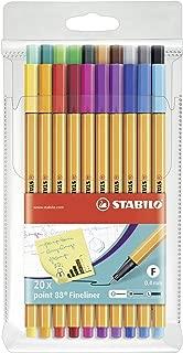 Stabilo Point 88 Wallet, 20-Color Set