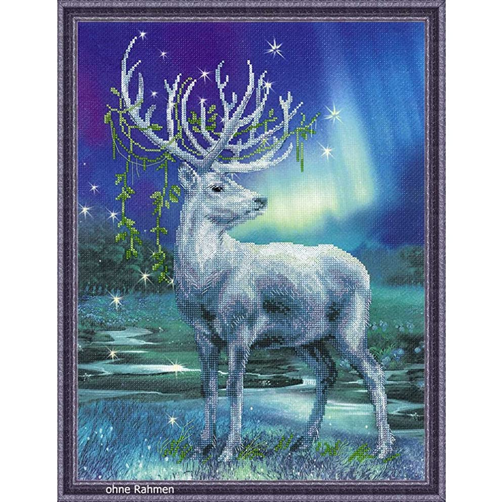 RIOLIS 0043 PT - White Stag - Counted Cross Stitch Kit 11?