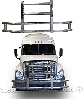 Longroadaccess Semi Truck Bumper Guard (Grille Guard) - Fits Volvo VNL 2004+ | Freightliner Cascadia 2008+ 22 inch LED bar 120W led Light bar Included