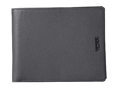 Tumi Nassau Global Double Billfold (Grey Textured) Wallet