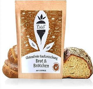 Ruut Glutenfreie Brotbackmischung mit Maniokmehl / Weizenersatz Backmischung für Brot und Brötchen ohne Zusatzstoffe & mit glutenfreiem Mehl / Paleo, vegan & nachhaltig / 810 Gramm