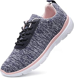 Tennis Walking Shoes for Women Casual Lace Up Lightweight Athletic Shoes