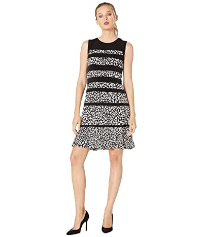 MICHAEL Michael Kors Flat Cat Paneled Dress (Black/Bone) Women