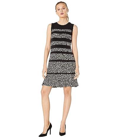MICHAEL Michael Kors Flat Cat Paneled Dress (Black/Bone) Women