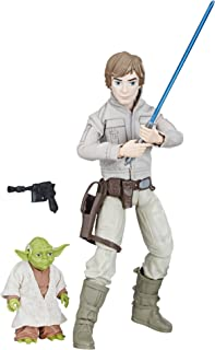 Star Wars Forces of Destiny Luke Skywalker and Yoda Adventure Set – 11 Inch Luke Posable Action Figure, Plus Yoda, Lightsaber and Outfit Accessories – Designed for Ages 4 Plus