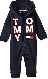 Tommy Hilfiger Baby Boys Zip Coverall Long Sleeve Onesie