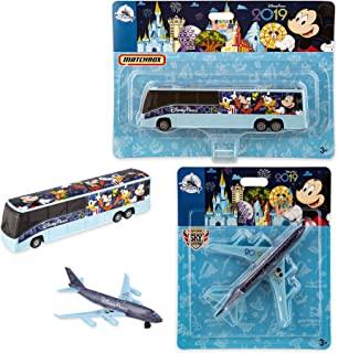 Take Off with Disney Matchbox Plane 2019 Theme Parks - 2019 Edition Matchbox Model Bus Transportation Exclusive Featuring Mickey Mouse and Friends Art Featuring Mickey, Donald, Goofy Die-Cast 2-Pack
