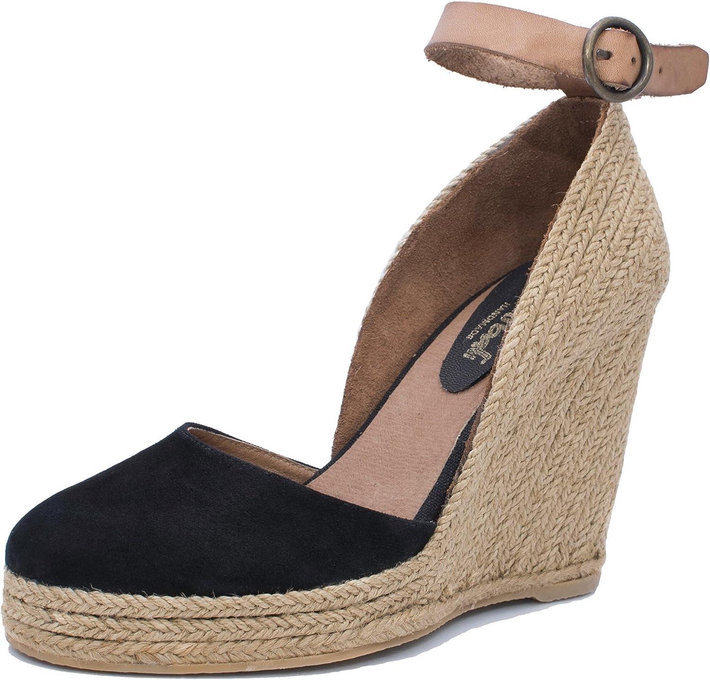 MTBALI - Espadrille Wedge Sandals, Woman- Model Altea Black