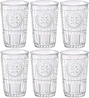 Bormioli Rocco – Romantic – Gläser im 6er-Set – 30,5 cl – aus durchsichtigem Glas – 8 x 8 x 12,5 cm