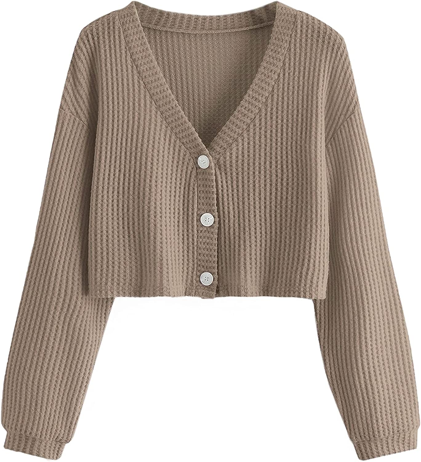 Women's Plus Size Long Sleeve Cardigan Sweater Button Down Knit Cardigan for Women Fall Square Neck Soft Casual Top