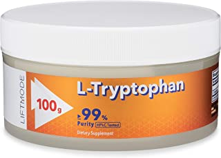 LiftMode L-Tryptophan Powder Supplement - Sleep Aid, Increase in Mood, Appetite Suppressor for Weight Loss | Vegetarian, V...