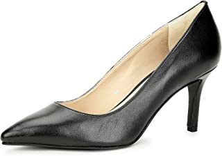 Saint G Women Black Leather Pumps