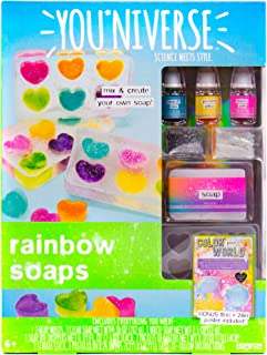 Youniverse Mix & Create Your Own Rainbow Soaps Craft Kit, DIY Soap Making, Multicolor