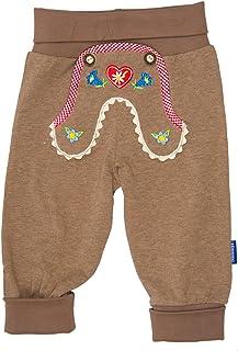 Eisenherz Babyhose Jogginghose mit Alpenland Stickereien elastischem Bund Lederhosenstil - fescher Trachtenlook