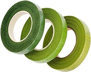 LEBQ Pack de 3 Fleuriste Ruban Vert 1/2 Pouce per 90 Pied (Multicolore)