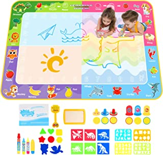 Apsung Large Aqua Doodle Mat,150 x 100 cm Extra Large Water Drawing Doodling Mat Coloring Mat Educational Toys Gifts for K...