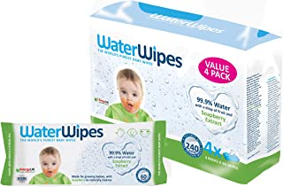 WaterWipes Soapberry, 240 Wipes