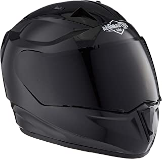Steelbird SA-1 Aeronautics Full Face Helmet with Smoke Visor (Glossy Axis Grey, M)