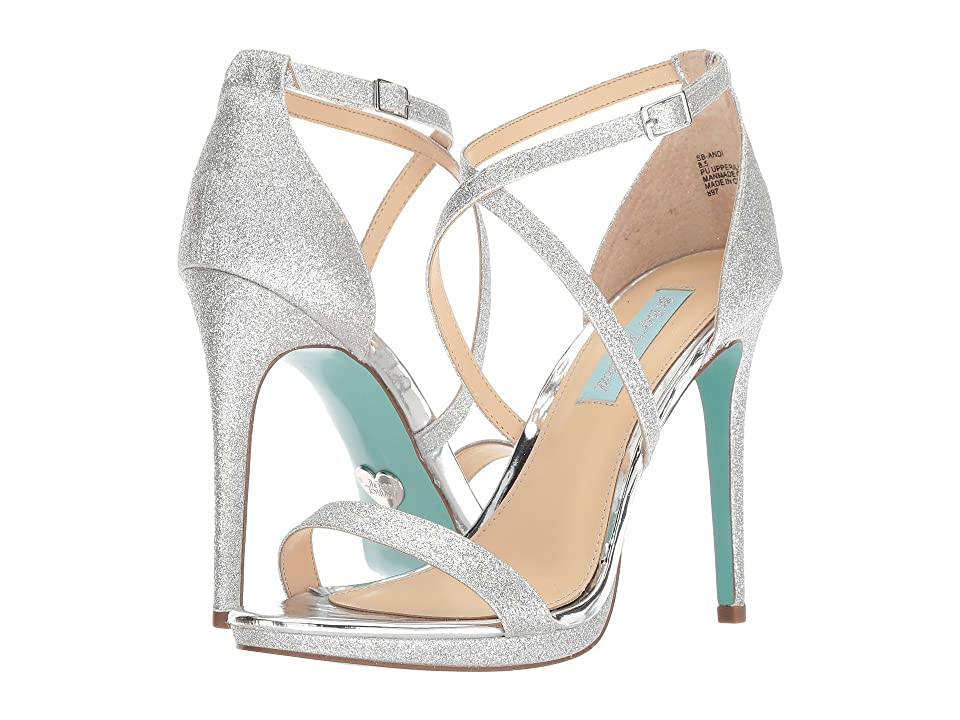 Blue by Betsey Johnson Andi (Silver Glitter) High Heels