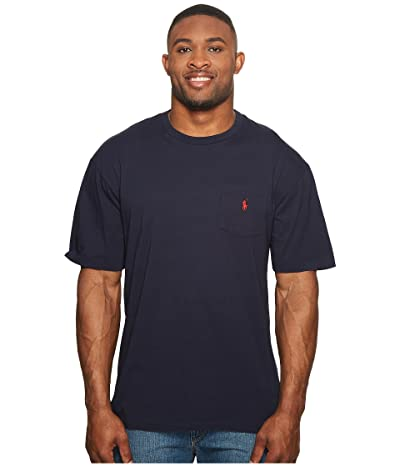 Polo Ralph Lauren Big & Tall Big and Tall Classic Fit Crew Neck Pocket T-Shirt (Ink) Men
