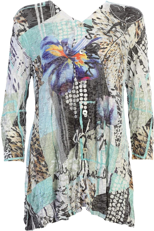 Jess Jane Women's Iris Crushed Limited price sale Button Burnout Slub Direct sale of manufacturer Accent Tuni