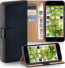 MoEx® Funda Cartera [protección 360°] Compatible con iPhone 7 Plus/iPhone 8 Plus | Cierre magnético, Noir