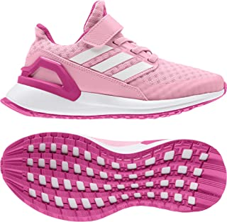 adidas RapidaRun EL K Light Pink Synthetic Child Trainers Shoes