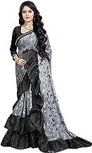 Best sky blue saree with black blouse Reviews