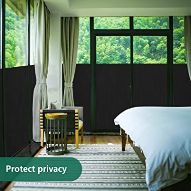 Total Blackout Window Film Sun Blocking Heat Control Anti UV Window Tint Privacy Window Film 100% Light Blocking Film for Hom