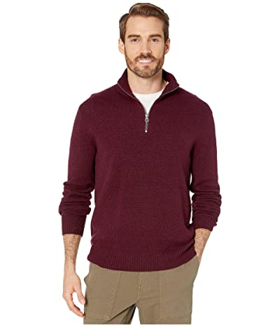 J.Crew Rugged Merino Wool Half-Zip Sweater (Heather Maroon) Men
